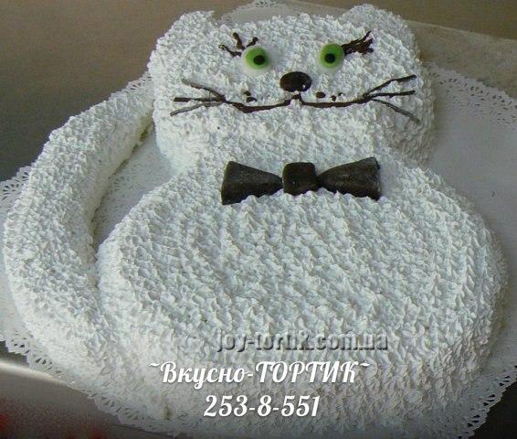 Детские торты в форме котик фото